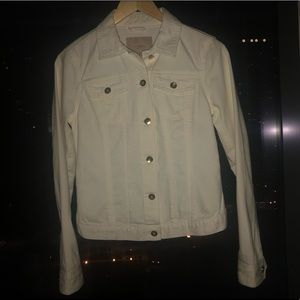 Banana Republic White Denim Jacket XS
